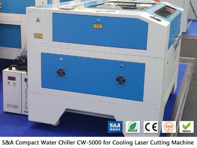 Pequeno resfriador de água CW5000 para cortador de gravador a laser de CO2 - 1/2