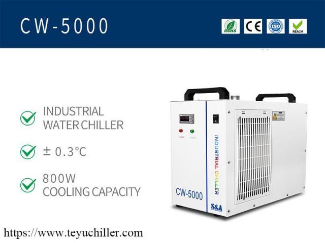 Pequeno resfriador de água CW5000 para cortador de gravador a laser de CO2 - 2/2